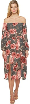 Brigitte Bailey Petra Off the Shoulder Midi Dress Women's Dress