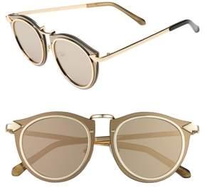 Karen Walker Women's Superstars - Solar 50Mm Retro Sunglasses - Gold