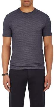 Giorgio Armani Men's Lapped-Neck Stretch-Wool T-Shirt