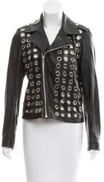 Each X Other Embellished Leather Biker Jacket