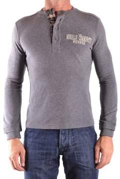 Frankie Morello Men's Grey Cotton Polo Shirt.