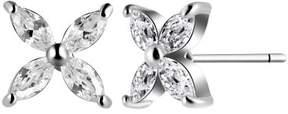 Alpha A A Designer Inspired Sunflower CZ Earrings
