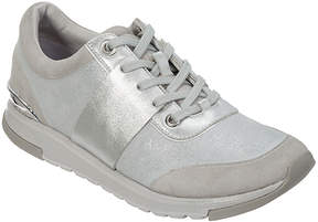 Foot Petals Silver Blair Leather Sneaker - Women