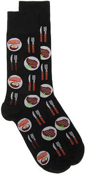 Hot Sox Men's Salmon & Steak Dress Socks