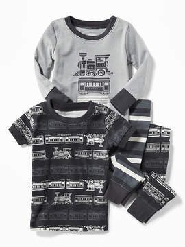 Old Navy Train-Graphic 4-Piece Sleep Set for Toddler & Baby