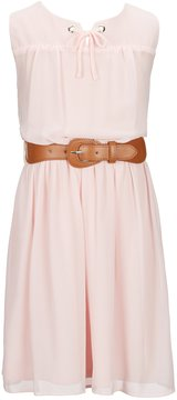 I.N. Girl Big Girls 7-16 Sleeveless Belted Dress