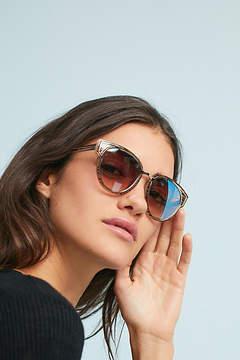 Anthropologie Striped Cat-Eye Sunglasses