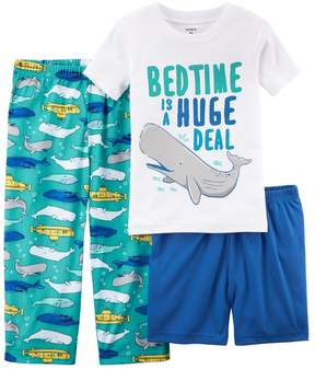 Carter's Toddler Boy 3-pc. Bedtime Is A Huge Deal Whale Pajama Set