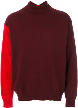 Marni contrast sleeve turtleneck sweater