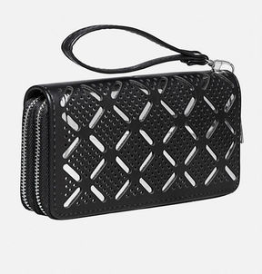 Avenue Mirrored Double Zip Wristlet
