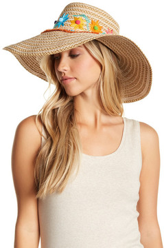 Eric Javits Picnic Wide Brim Water Repellent Hat