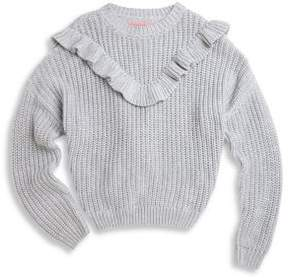 Blank NYC Girl's Frilled Sweater