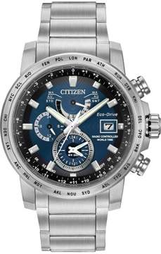 Citizen Men's A-T AT9070-51L World Time Stainless Steel Watch, 44mm