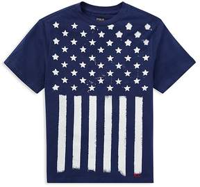 Polo Ralph Lauren Boys' Cotton Jersey Stars & Stripes Tee - Big Kid