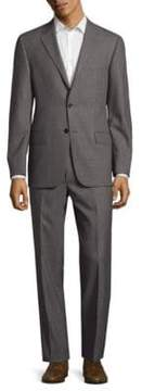 Hickey Freeman Textured Plaid Wool Suit