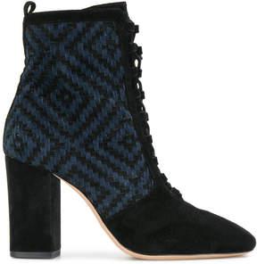 Alexandre Birman woven detail lace-up ankle boots