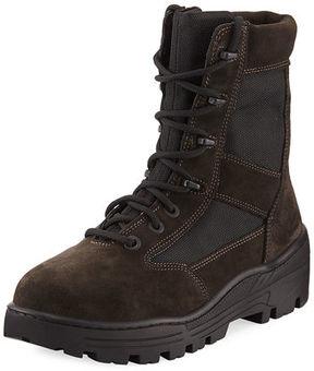 Yeezy Men's Suede & Mesh Combat Boot