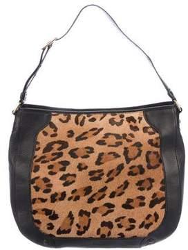 Lauren Ralph Lauren Ponyhair-Trimmed Shoulder Bag