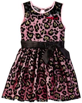 Betsey Johnson Flocked Illusion Dress (Little Girls)
