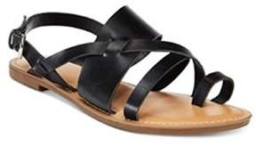Bar III Womens Voltage Split Toe Casual Strappy Sandals.