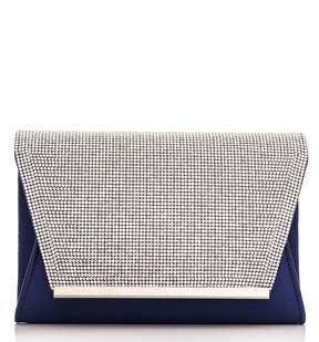 *Quiz Navy Diamante Envelope Bag