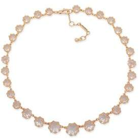 Jenny Packham Faceted Crystal Stone Collar Necklace