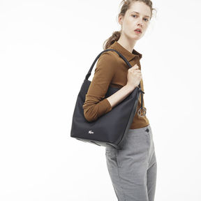 Lacoste Women's Daily Classic Coated Piqu Canvas Hobo Bag