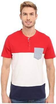 U.S. Polo Assn. Wide Stripe Pocket Henley T-Shirt Men's Short Sleeve Pullover