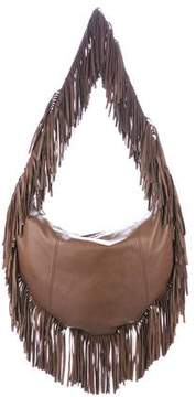 Michael Kors Fringed Crescent Hobo - BROWN - STYLE