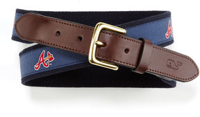 Vineyard Vines Atlanta Braves Canvas Club Belt