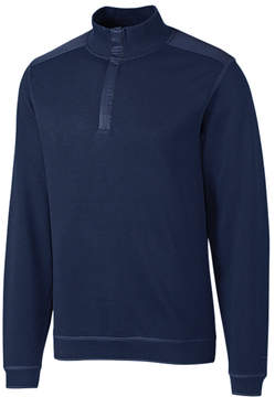 Cutter & Buck Navy Edwards Park Half-Zip Supima Navy Pullover - Men