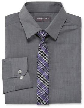 Van Heusen Boys Shirt + Tie Set 8-20 - Reg