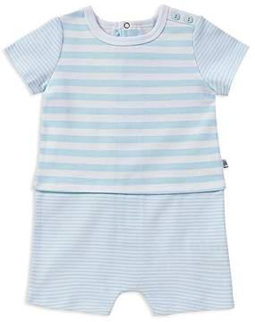 Absorba Boys' Contrast Striped Cotton Romper - Baby