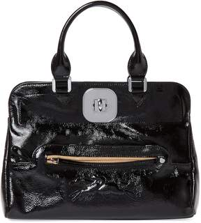 Longchamp Women's Gatsby Medium Patent Leather Convertible Tote - BLACK - STYLE
