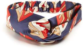 GUCCI GG Wallpaper-print silk-satin headband