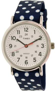 Timex Women's Weekender TW2P66000 Blue Cloth Analog Quartz Fashion Watch