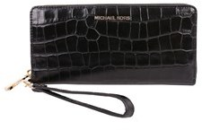 Michael Kors Women's Black Leather Wallet. - BLACK - STYLE