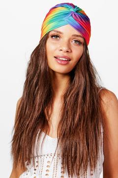 boohoo Sophie Rainbow Print Turban