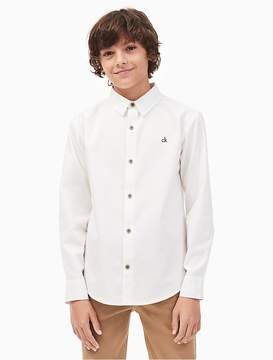 Calvin Klein Jeans Boys Solid Dobby Shirt