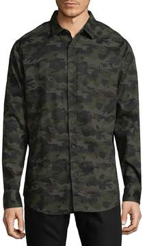 Sovereign Code Men's Camouflage Cotton Button-Down Shirt