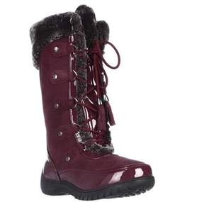 Sporto Minor Mid Calf Soft Linded Waterproof Winter Boots, Tawney Port.
