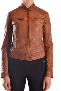Brema Women's Brown Leather Outerwear Jacket.