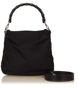 Gucci Pre-owned: Bamboo Nylon Handbag. - BLACK - STYLE