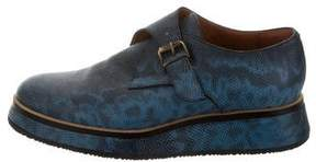 Dries Van Noten Embossed Platform Oxfords