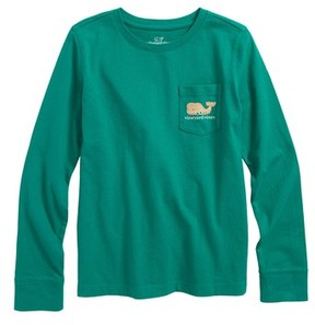 Vineyard Vines Toddler Girl's Gingerbread Whale Pocket Tee