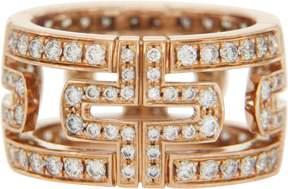 Bulgari 18K Rose Gold and 1.46ct Diamond Parentesi Eternity Ring Size 6