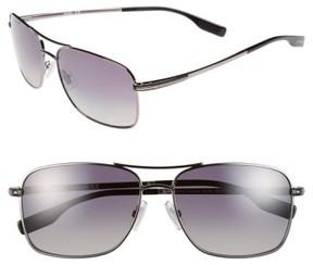 BOSS Men's 59Mm Polarized Navigator Sunglasses - Dark Ruthenium