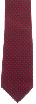 Turnbull & Asser Diamond Print Silk Tie