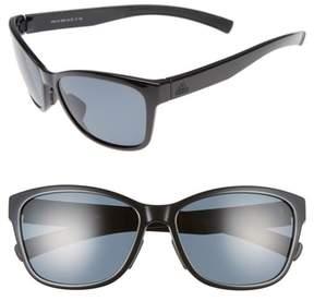 Women's Adidas Excalate 58Mm Polarized Sunglasses - Shiny Black/ Grey Polar