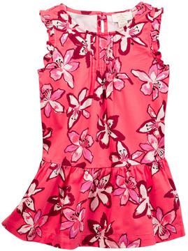 Kate Spade ruffle drop waist dress (Big Girls)